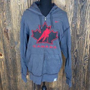 Nike Team Canada ZIP up sweatshirt